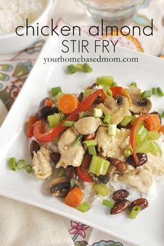 chicken-almond-stir-fry @yourhomebasedmom.com  #chicken,#stirfry,#recipes