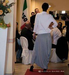 Viceversa brand made in italy  Trousers harem pants  Pantalone harem righe  Realizzato da Atelier Maria Teresa