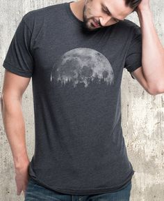 Graphic Design - Graphic Design Ideas - Men's Cabin & Moon T-Shirt by Black Lantern on Scoutmob. Graphic Design Ideas : – Picture : – Description Men's Cabin & Moon T-Shirt by Black Lantern on Scoutmob -Read More – Formal Casual, Mens Printed Shirts, Moon Shirt, Heather Black, Graphic Tees, Graphic Design, Print Design, Shirt Designs, Tee Shirts