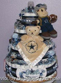 Dallas-Cowboys-Diaper-Cake.JPG - Dallas Cowboys Diaper Cake