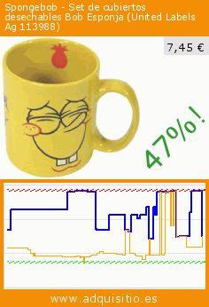 Spongebob - Set de cubiertos desechables Bob Esponja (United Labels Ag 113988) (Cocina). Baja 47%! Precio actual 7,45 €, el precio anterior fue de 14,14 €. https://www.adquisitio.es/spongebob/disfraz-adulto-bob