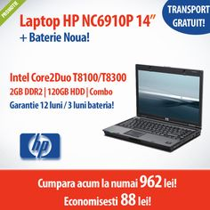 Astazi in oferta: HP Compaq NC6910p, Business Notebook, la numai 962 lei cu TVA inclus si transport gratuit!