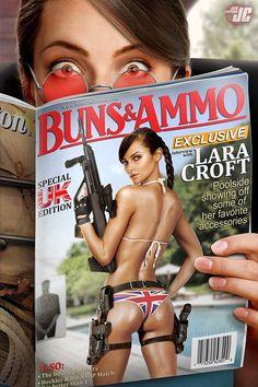 Lara Croft in a Magazine by Jeffach