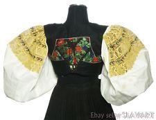 SLOVAK FOLK COSTUME embroidered blouse & vest DETVA yellow peasant ethnic KROJ Folk Costume, Costumes, Embroidered Blouse, Bodice, Ethnic, Vest, Boho, Yellow, Dress Up Clothes