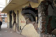 Photo about Structural damage to buildings in the earthquake of 27 February 2010 in Chile. Image of earthquake, crack, damage - 19311860 Tsunami, Images Of Earthquake, Costa, February, Sign, Stock Photos, Free, Ceilings, Fotografia