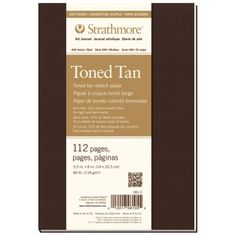 """Strathmore® 400 Series Soft Cover Toned Tan Sketch Journal 7.75"""" x 9.75"""": Sewn Bound, Brown, Journal, 112 Pages, 7 3/4"""" x 9 3/4"""", Medium, Sketching, 80 lb, (model ST481-7), price per each"""