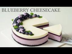No bake Blueberry Cheesecake French Desserts, No Cook Desserts, Just Desserts, Delicious Desserts, Dessert Recipes, Raw Vegan Cake, Raw Cake, No Bake Blueberry Cheesecake, Cheesecake Desserts