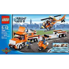 Lego City Transportation Helicopter Transporter for sale online Lego City Helicopter, Lego City Police, Lego City Sets, Lego Sets, Legos, Bateau Lego, Lego Universe, Lego Truck, Lego Boards
