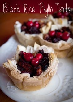 Vegan Black Rice Phyllo Tarts ~ These look amazing.