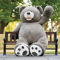 """Hugfun 93"""" Grey Bear"""