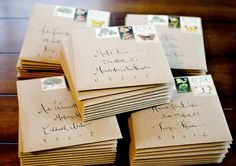 Beautiful envelopes.
