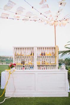 Fun rehearsal dinner bar. #photography #bride #cabo #destinationwedding #beauty #eventdesign #wedding #cabosanlucas  #www.mariannaidirin.com