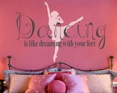 Perfect wall decal for a little dancer's room