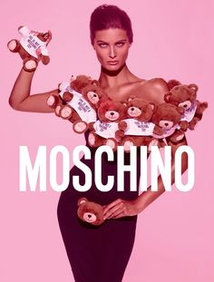 Isabeli Fontana Gets Covered in Stuffed Animals for Moschino 'Toy' Fragrance Ad