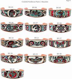 Colorful Handmade Northwest Native Bracelets