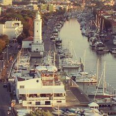 Faro e porto canale dalla ruota panoramica. Estate 2012