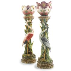 massier dynasty late 19th/early 20th century Two French majolica planters on…