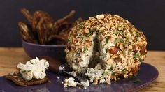 This sweet and savory cheese ball will be the hit of the party!  Blue and Maple Cheese Ball