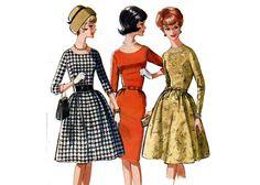 1960s Easy Versatile Dress Pattern Slim or by PrettyPatternShop, $11.95