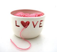 Knitting Bowl Yarn Bowl  Love