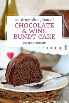 Combine two of life's great gifts in one with this Chocolate and Wine Bundt Cake. This cake adapted from a Martha Stewart recipe is rich with chocolate with the wine in the background with a chocolate icing to finish off this moist Bundt. Chocolate Wine, Chocolate Bundt Cake, Homemade Chocolate, Chocolate Recipes, Christmas Chocolate, Chocolate Fudge, Best Cake Recipes, Cupcake Recipes, Sweet Recipes