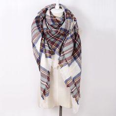 Brand New Design Women's Fashion Scarf Top quality Blankets Soft Cashmere Winter warm Square Plaid Shawl Size 140cmx140cm