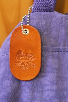Duck and Ducklings Bag Charm  Leather by TinasLeatherCrafts. Repin To Remember.