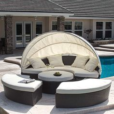 Bellagio 4-piece Outdoor Daybed Sectional Set