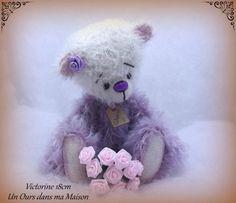 Victorine ours d'artiste de collection par unoursdansmamaison