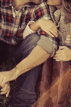 this will definitely be my save the date pic in a couple of years: pose and color and plaid and boots...lmbo..luv it all!