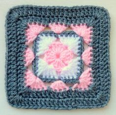 Instant Download Crochet PDF pattern - LD-0103 Afghan block