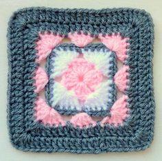 Instant Download Crochet PDF pattern - LD-0103 Afghan block