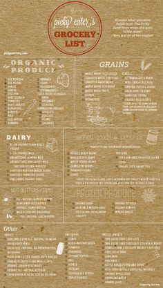 Have you ever been confused about what to buy at the grocery store to ensure you're stocking up on healthy items? This handy grocery list has everything you need to make easy, delicious recipes at home!