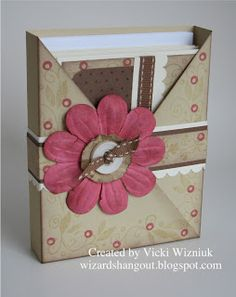 """Okay, by now you've probably seen a criss-cross card, if not made one yourself. Well this box is using the basic concept of the criss-cross card, only made into a box to hold 5 ½"""" x 4 ¼"""" cards and envelopes."""