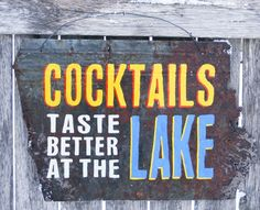 Cocktails at the lake