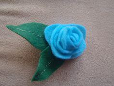 Handmade Felt Rose Clip by RaedianceByJo on Etsy, $5.00