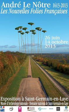 """Exposition """"André Le Nôtre (1613-2013) : Les nouvelles folies françaises"""", du 26 juin au 14 octobre 2013. © MAN"""