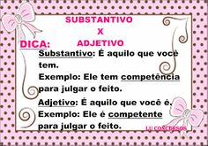 Lu Concursos: SUBSTANTIVO X ADJETIVO