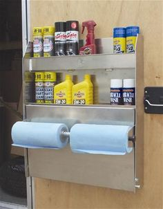Buy ALUMINUM Wall Cabinet Tool Storage Organizer Trailer Garage Shelves Table Shelf at online store Box Trailer, Trailer Build, Utility Trailer, Cargo Trailers, Snowmobile Trailers, Enclosed Motorcycle Trailer, Enclosed Trailer Camper, Van Storage, Tool Storage