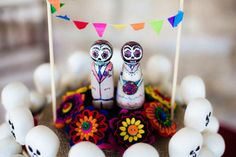 Day of the Dead Felt Bouquet Cake by RBKCreations