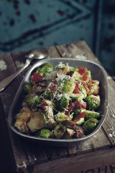 Warm Salad with Brussel Sprouts