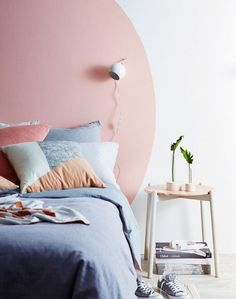 City slickers, the head of a bed or commonly called a Headboard Ideas is just one of the decor aspects that can make a room more to life Home Bedroom, Bedroom Wall, Bedroom Decor, Bedrooms, Bed Without Headboard, No Headboard, Headboard Ideas, Headboard Alternative, Home Interior
