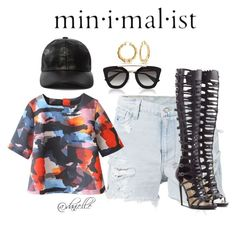 """""""Leather """" by danielle-sierra ❤ liked on Polyvore featuring Ksubi, Bling Jewelry, Prada and Paul Andrew"""
