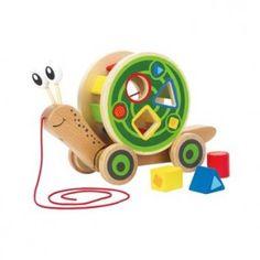 Buy Hape Walk A Long Snail Toddler Development Wooden Push and Pull Drag Kid Toy at Wish - Shopping Made Fun Toddler Toys, Kids Toys, Sevira Kids, Hape Toys, Pushes And Pulls, Toddler Development, Developmental Toys, Pull Toy, Toys Online