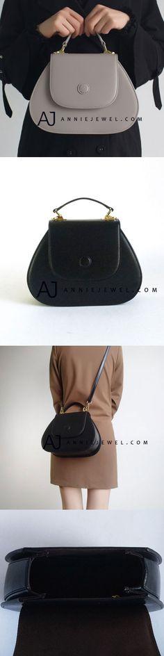94f0399c66 GENUINE LEATHER HANDBAG HANDMADE SHOULDER BAG CROSSBODY BAG PURSE FOR WOMEN  Black Leather Handbags