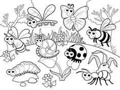 Spring Coloring Pages: Spring coloring sheets can actually help your kid learn more about the spring season. Here are top 25 spring coloring pages free Insect Coloring Pages, Garden Coloring Pages, Summer Coloring Pages, Detailed Coloring Pages, Coloring Sheets For Kids, Preschool Coloring Pages, Animal Coloring Pages, Free Printable Coloring Pages, Coloring Pages For Kids