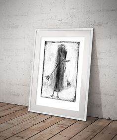Black And White Prints, Folklore, Printmaking, Fairy Tales, Art Prints, Studio, Frame, Etsy, Printing