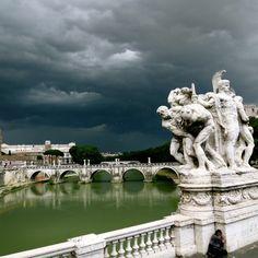 Ponte Sant'angelo, Rome, #Italy — by Giuljana Umlauf. The weather was breath taking