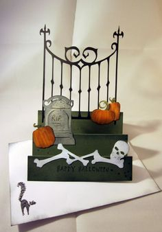 Paper, Scissors, Ink.: Stairstep Halloween card with October31 and Pumpkin Carving