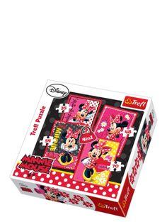 Minni-palapelit (35, 48, 54 ja 70 palaa) Ihana Minni-palapelipaketti sisältää 4 kappaletta värikkään veikeitä Minni-aiheisia palapelejä. Voit lisätä vaikeustasoa kehittymisesi myötä, sillä paketin palapelit kasvavat palamäärältään sopivin portain.